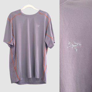 Arc'teryx Sz Large Crewneck Shirt Grey Men's Tshirt Short Mesh Back
